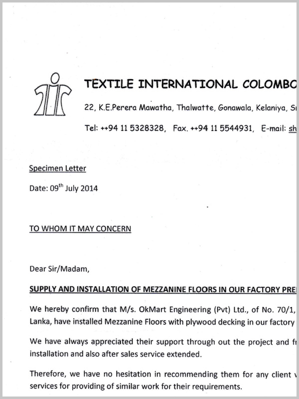 review of Textile International Colombo Pvt Ltd