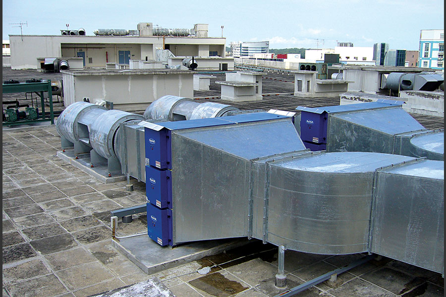 ELECTROSTATIC AIR CLEARING SYSTEMS AND KITCHEN VENTILATION SYSTEMS